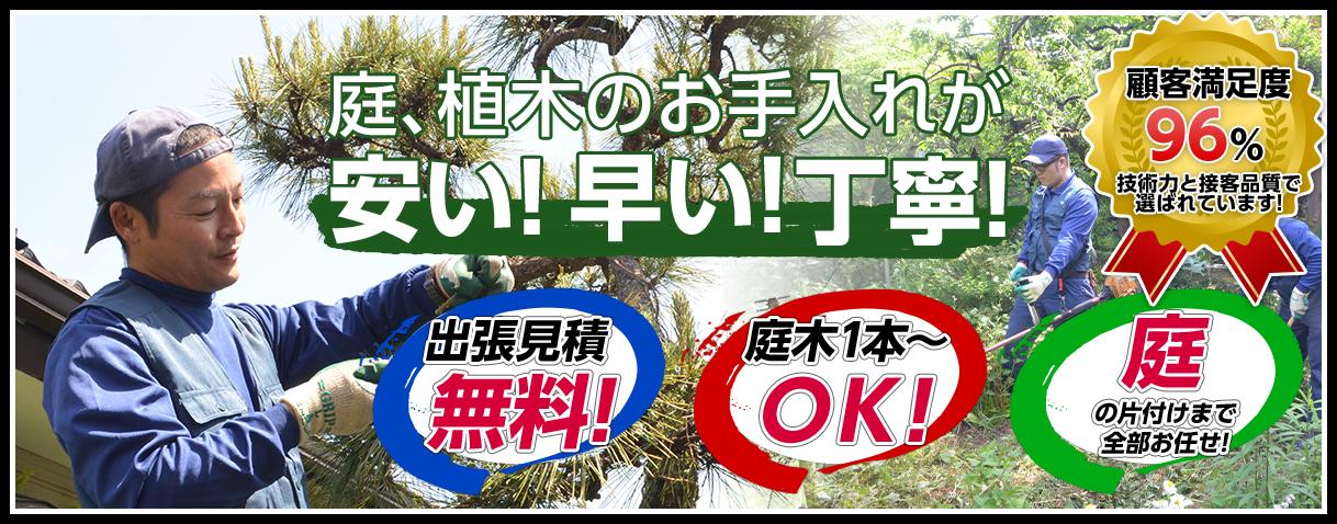 横須賀市、逗子市、鎌倉市、横浜市の大木伐採、植木剪定、草刈り